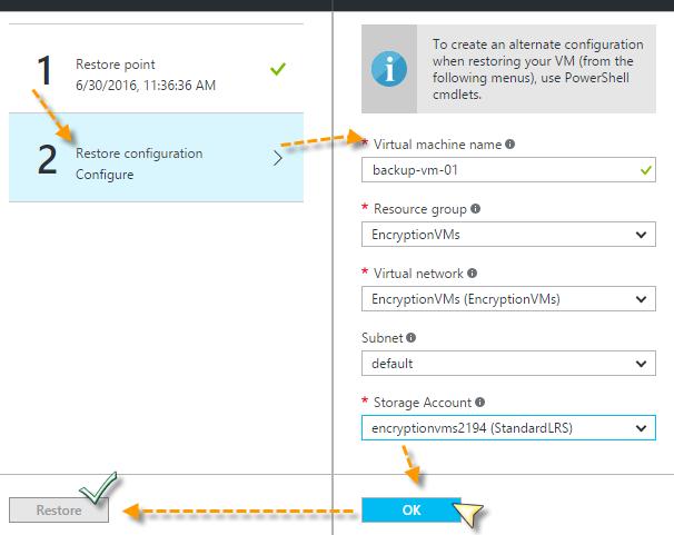 Azure VM Restore